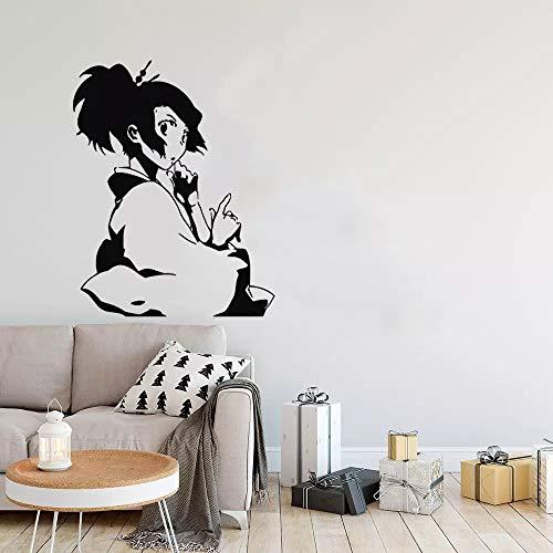 WERWN Arte Creativo magnífico Anime japonés Pared Dibujos Animados Manga Vinilo Mural decoración