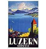 QINGRENJIE Schweiz Luzern Tourismus Plakate Luzern Stadt