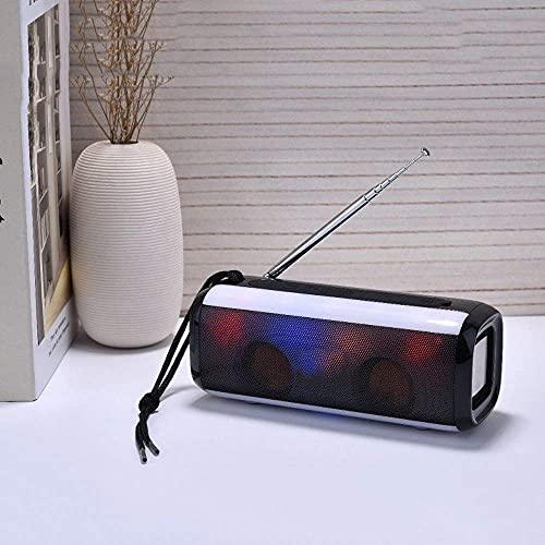 N/A Mini altavoz Bluetooth inalámbrico STEREO BASS DESKTOP Portátil Portátil Luces de colores para la fiesta al aire libre Elegante (Color: E) mei (Color : E)
