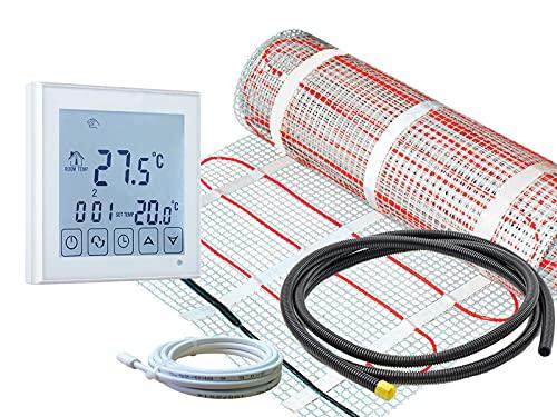 Thermostat RT-45 mit elektrischer Fußbodenheizung SunPro 160 W/m² für Fliesen (1,5 m² - 0,5 x 3 m)