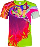 aofmoka Curly Hair Popular Demand Orange Girl Urban Print Men Women T-Shirt