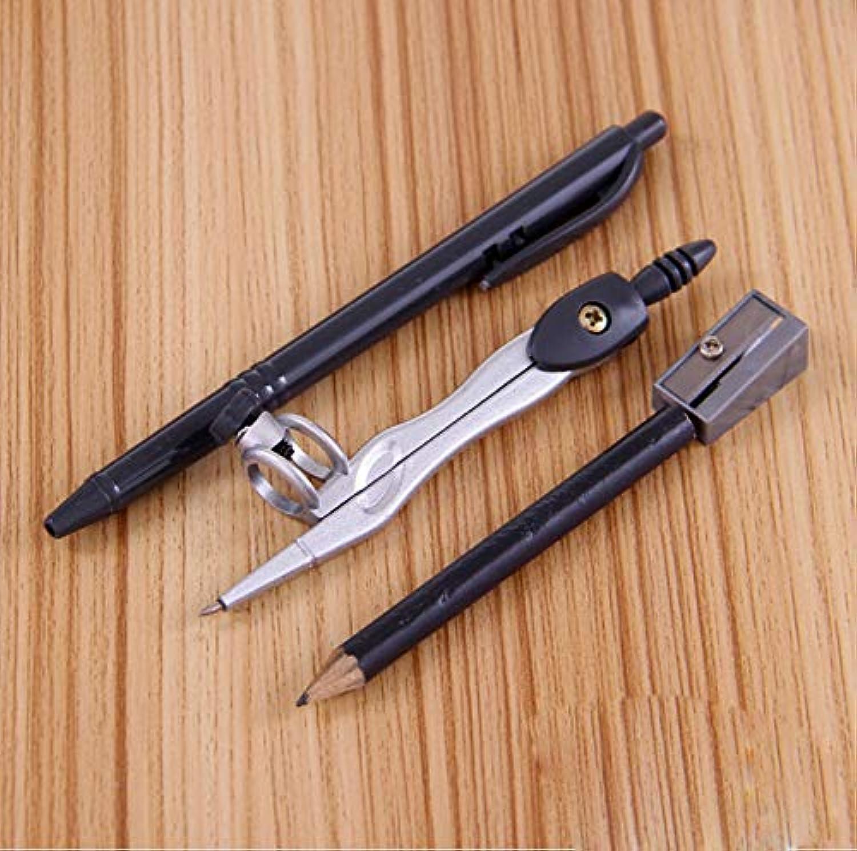 Lot Metall 8-teiliges Set Zeichnen Kompass Mathematische Geometrie-Werkzeug Rundschulbedarf Studenten Schreibwaren Schwarz B07PMZFN1G | Ausgezeichnete Qualität