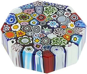 GlassOfVenice Pisapapeles octogonal de cristal de Murano, grande