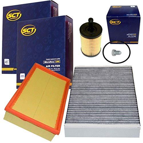Inspektions Satz Filter Set 1x Oelfilter 1x Ablassschraube 1x Aktivkohlefilter (Innenraumluftfilter) 1x Luftfilter
