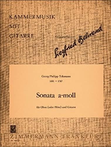Sonate a-Moll. Flöte, Gitarre