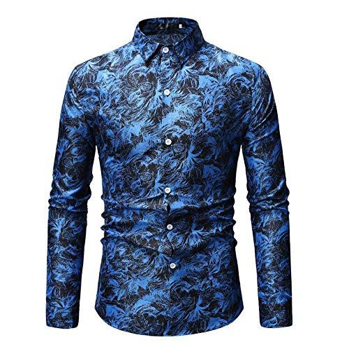 Camisa de Hombre Estampada con Personalidad a la Moda de Primavera de Gran tamaño, Holgada, cómoda, Informal, Ropa de Calle para Uso Diario 3XL