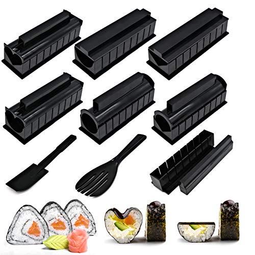 Lot de 10 Kit Maker Sushi, Moules à Sushi, Outil De...