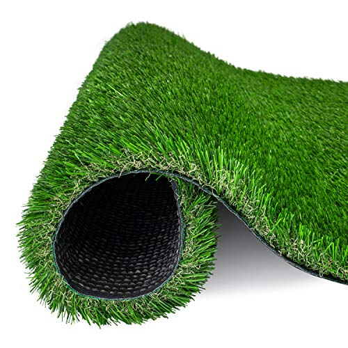 AMASKY Artificial Grass Turf 4 Tone Synthetic Artificial Turf Rug for Dogs Indoor Outdoor Garden Lawn Patio Balcony Synthetic Turf Mat for Pets (17 in x 24 in = 2.84 sq ft)