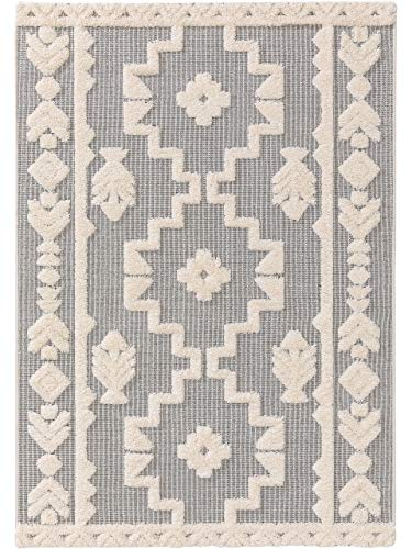 benuta PLUS In- & Outdoor-Teppich Carlo Grau 80x150 cm - Outdoor-Teppich für Balkon & Garten