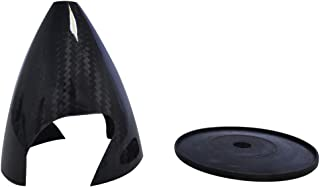 1 pieceCarbon Fiber Spinner Cone Slotted 3 inch76mm Carbon Fiber Spinner 2 Blades for Gas RC Airplane Model CW Tractor Prop (3in)