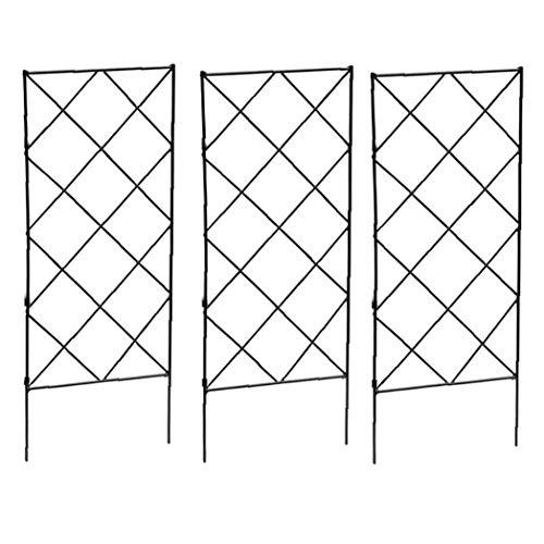Kacniohen Pflanze Klettern Trellis Rahmen Garten Plant Growing Unterstützung Metall Eisen Trellis Wand Faltbare für Blumen-Gemüse 3PCS