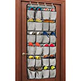 Over the Door Shoe Organizer, 24 Large Pocket Shoe Rack