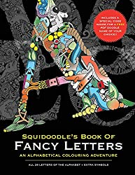 squidoodle's book of fancy letters coloring book