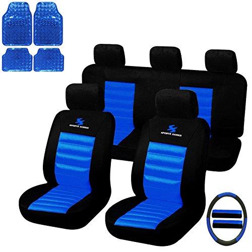 eSituro Universal Sitzbezüge für Auto Schonbezug mit 4 teillige Fußmatten SCMS0035-X