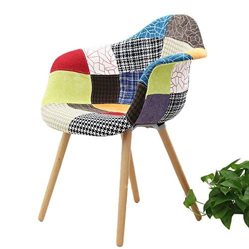 G-Y Canapé paresseux, Canapé simple nordique en bois massif, chaise de café, chaise longue de balcon (Couleur : MODÈLE)