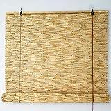 JIAJUTUI001 Tapparelle in Reed Tapparella a Lamella Naturale Tenda a Rullo in Bamboo Naturale Ance Naturali Esterno Tende Verticali per finestre Giardino, Balcone Domestico (120x 180cm/47x71in)