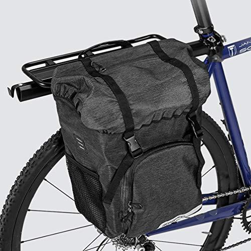 YUYAXBG Modieuze fietspaden, grote capaciteit fietspadenzak, waterdichte lichtgewicht fietstas, enkele fiets achterbank Trunk Pack, Anti -scratch, zwart, zwart