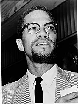 Malcolm X Photograph - Historical Artwork from 1964 -  4  x 6   - Semi-Gloss