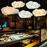 Chandelier Postmodern Floating Cloud Creative Cloud Chandelier Bar Cafe Bar Counter Clothing Store Decoration White Light Lamp 40W (Size : 350 200 150mm) (Color : 500260180mm)