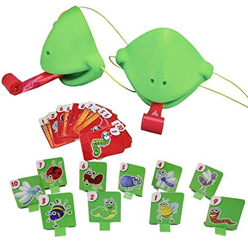 Misis Tongue Catch Bugs Juego Joint Take Card-Eat Pest Car Juego Doble Juegos De Escritorio Juegos De Mesa para Niños,Juegos Interactivos Multijugador Toy Beautiful