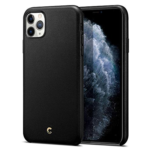 CYRILL Ciel [Basic Leather Collection] Designed for Apple iPhone 11 Pro Case (2019) - Black