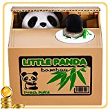 Piggy Bank HmiL-U Automatic Stealing Coins Cents Penny Christmas/Birthday Gift for Kids. (Panda)