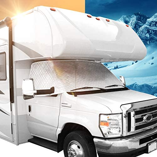 Leisure Coachworks RV Windshield Window Cover for Class C Ford 1997 2021 Motorhome Windshield product image