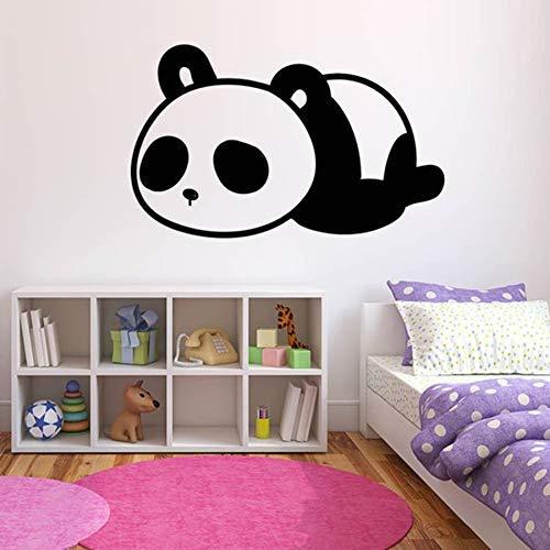 Slapende Panda Muursticker Kwekerij Decor PVC Verwijderbare Dier Tattoo Behang Kinderkamer Cartoon Art Decals67x42cm