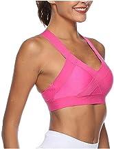 YANODA sport-bh vrouwen in elkaar grijpen braathable Sport Top Push Up Female Gym Fitness Sports Ondergoed Seamless Joggin...