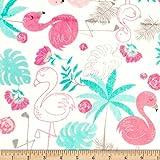 Shannon Fabrics Studio Minky Cuddle Flamingo Blush Fabric Fabric by the Yard