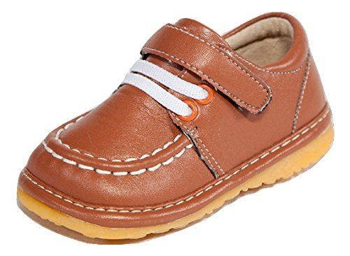 Mocha/Coffee/Light Brown Dressy Loafer Boy Squeaky Shoes