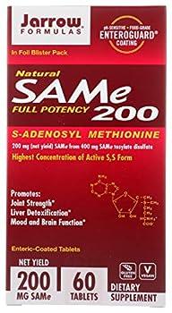 Jarrow Formulas Same 200 mg - 60 Tablets - Highest Concentration of Active S,S Form - Supports Joint Health Liver Function Brain Metabolism Mood & Antioxidant Defense - 60 Servings