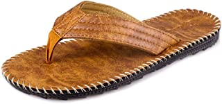 Men's flip-flop sandals men's summer outdoor sandals and slippers sandals clip feet non-slip thick bottom flat heel beach shoes British pu leather slippers casual shoes