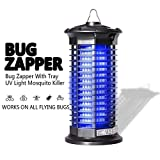 Garsum Bug Zapper Electric Mosquito Killer Powerful Indoor Insect Trap UV Lamp Child & Pet Safe, Non-Toxic Fly Zapper Repellent for Home, Indoor, Kitchen