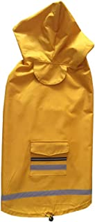 Pet Dog Cat Costumes - Waterproof Medium Large Pet Dog Clothes Outdoor Dog Coats Dog Raincoat for Dogs Reflective Golden R...