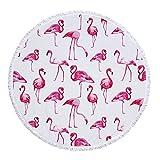 YEARGER yeahracing rger Flamingo microfibra redondas grandes Toalla Bohemian Picnic Yoga Mat