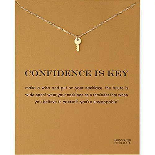 Elistelle Halsketten Für Damen Mit Anhänger Schlüssel Muster Gliederkette Kurz Halsband Schmuck