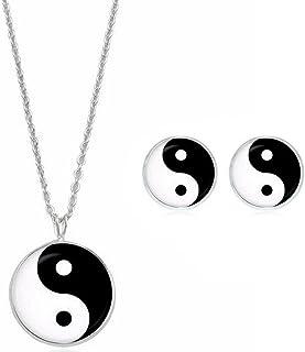 """Lot de 11 Pendentifs /""""YING YANG/"""" couleur Noir /& Blanc"""