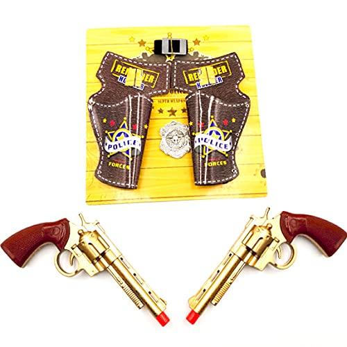 ARUNDEL SERVICES EU Pistolas de Vaquero Juego de Pistola de Vaquero Juego de Pistola de Juguete Vaquero Juguete Vaquera Alguacil