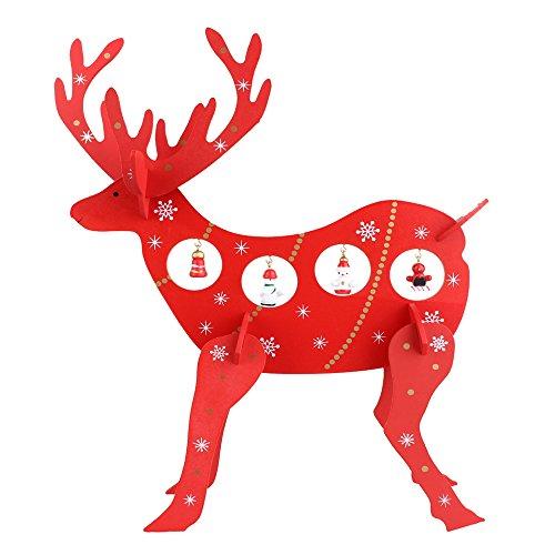 Decorazione In Legno Di Renna Di Natale, Anvor® Cervo Articoli Decorativi In Legno Per Home Hotel Desktop