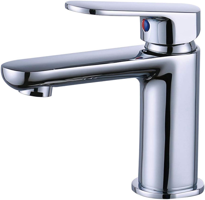 CF faucet all copper chrome bathroom basin faucet bathroom dual control hot and cold basin faucet