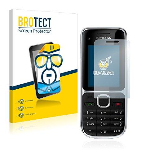 brotect Pellicola Protettiva Compatibile con Nokia C2-01 Pellicola Trasparente (2 Pezzi) Anti-Impronte