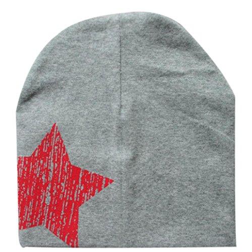 kingko® Imprimer Étoile bébé Bonnet pour Chapeaux Garçons Filles Coton Bonnet Enfants d'hiver (Bleu)