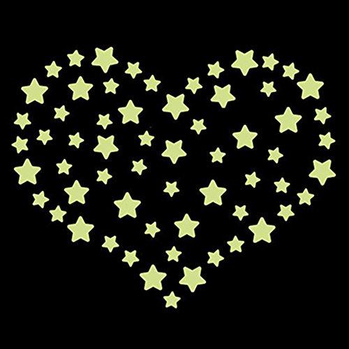 Bluelans® Stickers muraux pour chambre d'enfant Motif étoiles lune et serviette Eiffel