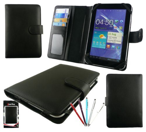 Emartbuy® B&le Von 5 Doppelfunktion Stylus + Universalbereich Basic Wallet Hülle Tasche Hülle Mit Kartensteckplätze Geeignet Für Trekstor Surftab Ventos 7.0 HD