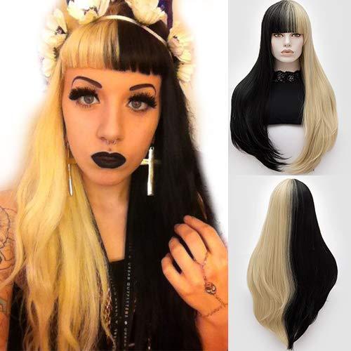 Peluca de pelo largo y recto para cosplay