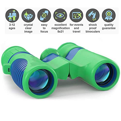 Kids Binoculars with HIGH Power - Professional Optics - Compact Easy & Shock Proof - Bird Watching Science & Telescope Children's Toys - Hiking Hunting - Educational for Boys and Girls (USA)
