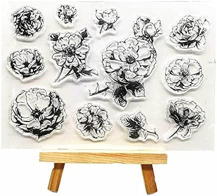 Welcome to Joyful Home 1pc Romantic Clear Seasonal Wrap Save money Introduction Rose Rubber Flower Sta