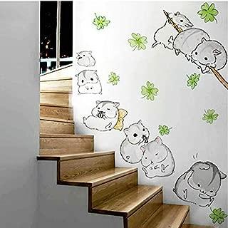 YHEGV 90X110CM Cute Hamster Totoro Wall Stickers Kids Nursery Children Room Cartoon Kawaii Murals Lovely Anime Guinea Pig Wallpaper Home Decor