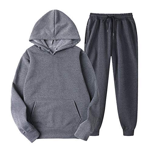 N\P Sudadera con capucha para hombre de color sólido de manga larga abrigo para hombre